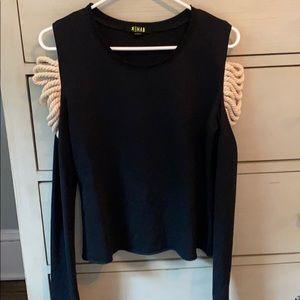 Women's Rehab rope design sweat shirt